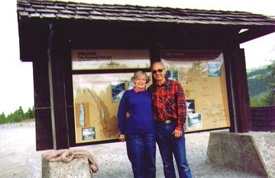 Bonnie & Wayne, Muncho Lake British Columbia Julu 1988   - Copy