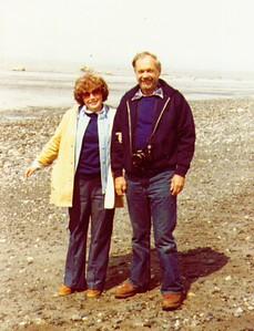 Bonnie,Wayne on beach of East Foreland , Nikiski  - Copy
