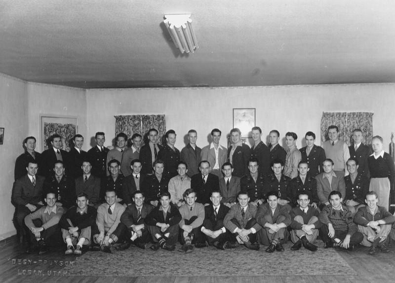 Utah Upsilon Chapter of Sigma Alpha Episilon, 1943  - Copy
