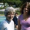 Visiting greatgrandma Laurie in Michigan<br /> Chris making face; Eddie in background<br /> 1980