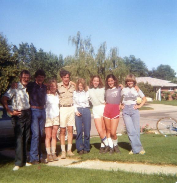 Grandpa Bob with Aunt Julie's friends<br /> Colorado Springs<br /> 1979