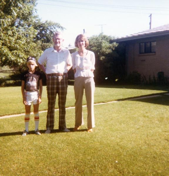 Bonnie & Seth with Grandpa Bob<br /> Denver, Colorado<br /> 1979