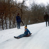 sledding at Ponca State Park<br /> Christmas 1981
