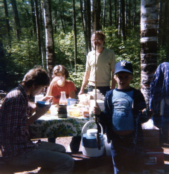 at camp<br /> Sawbill Lake, Minnesota<br /> 1979