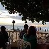 Birthday dinner at the Hau Tree Lanai restaurant overlooking Waikiki Beach....also a wonderful sunset !!
