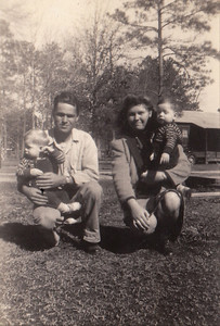 Uncle Buster, Ronald, Raymond and Aunt Louise Byerly