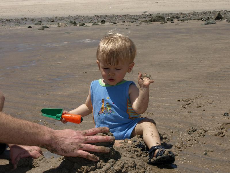 Sandy hands.