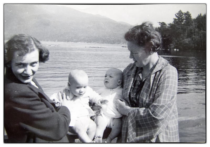 Mary and Eileen with the Twins Martha and Eileen at Deep Bay