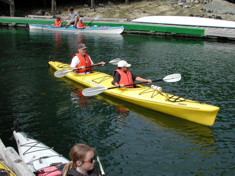 Marks first time Kayaking.