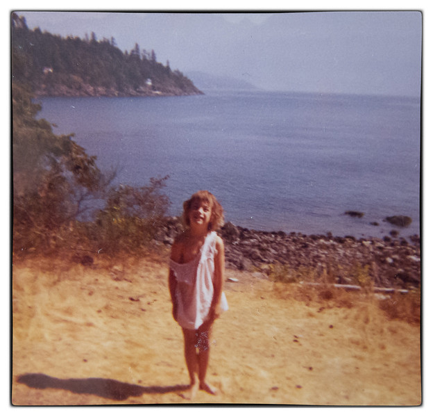 Eileen in her babydoll pajamas at the end of the Point
