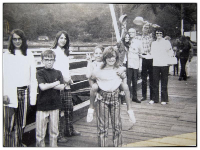 The ferry send off.<br /> Martha McDonald, Mark Rudy, Eileen McDonald, Stephanie Deyulo, Paula McDonald, WB McDonald, Ray Payne, Joanne McDonald