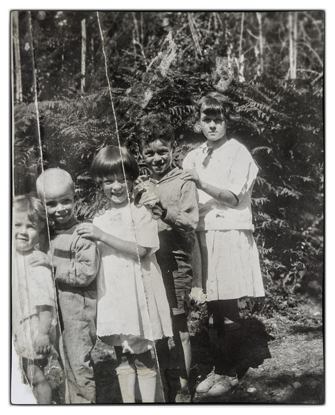 Bill, Maurice, Loretta, Noel (Red), Genevieve ready for the a picnic on Bowen Island.