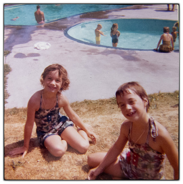 Eileen and Martha took swimming lessons at the Hotel Pool on Bowen Island