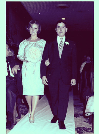 Wedding - Fred & Rhoda-restored photos 1965