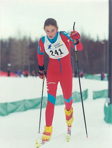 Jean racing in Junior Olympics 1999 - Anchorage Alaska.