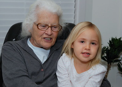 Maria and her great, great niece.