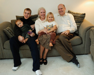 Frankie and Montana's other grandparents and uncle Kendal.  Now you can see where Frankie gets her blond hair.