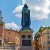 Statue of Giordano Bruno in Campo de Fiori in Rome.