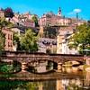 Lux 0244 Luxembourg City, Grund, bridge over Alzette river