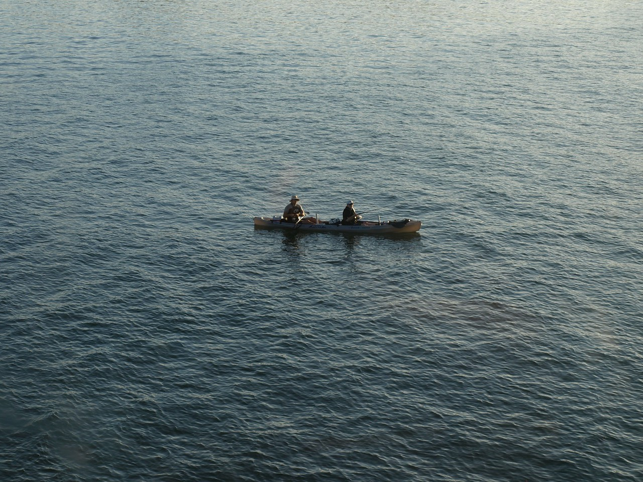 Fisherman in a boat.