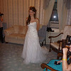 In the bridal dressing suite.  My first look at Jess in her dress - amazing!