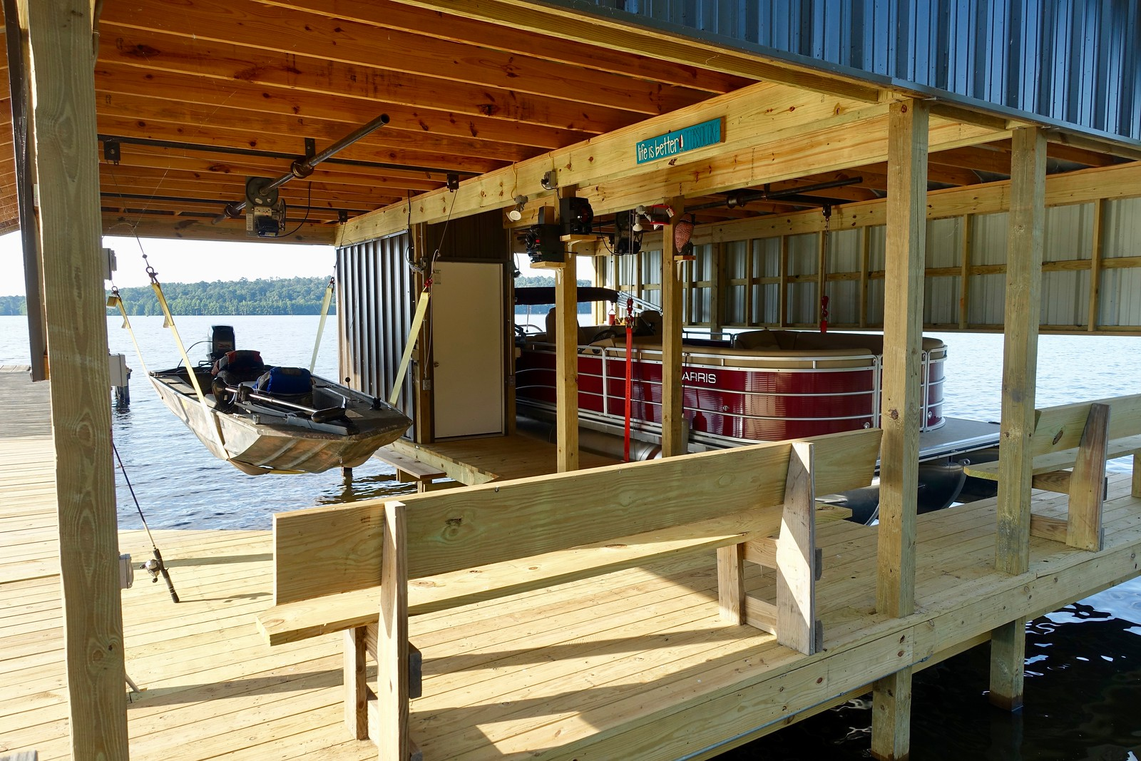 New boat house at Mike & Zoe's