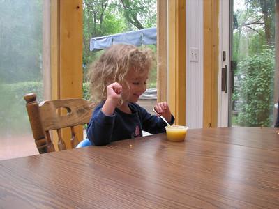 Cady love grandpa's little applesauce bowls