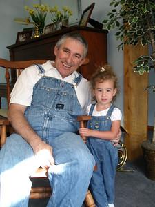 Grandpa Mike and Cadence wear OshKosh