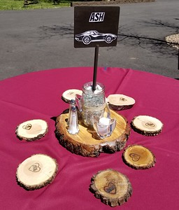 Table centerpieces and coasters
