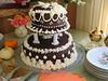 The delicious wedding cake, courtesy of Patty Robertson.