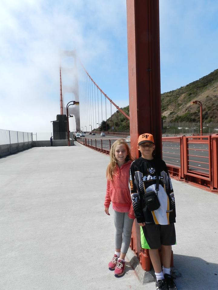 Sofia and Austin on the bridge