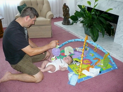 Daddy playing with Joey