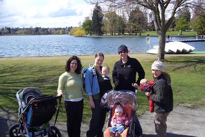 Thurs walking with Girls: Tammy (Hannah), Meg (Rosalind), Shannon (Ellizabeth) and Nicole (Paia)
