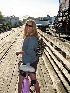 Bike ride along the Astoria riverwalk.