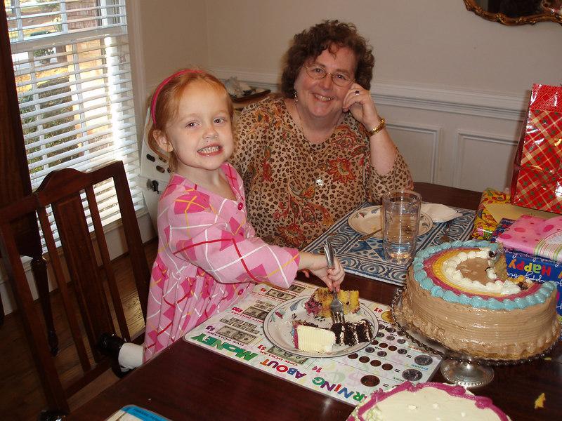 Elizabeth with Nana.