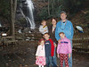 Our family at the top of Anna Ruby Falls.  It started to rain right before we got to the top. We had fun anyway!