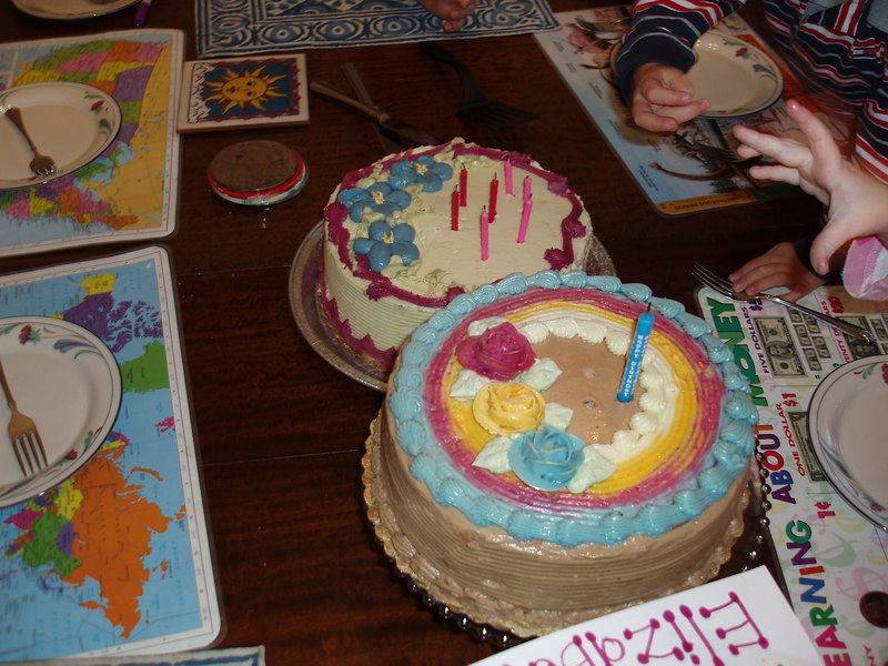 2 of Holly's 3 birthday cakes.