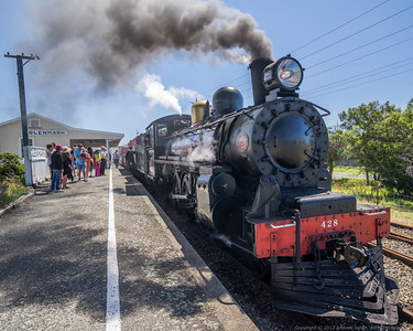 A428 arrives at Glenmark after it's first trip to Waikari.