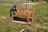David Joyce installing Wendy's bench