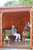 Wendy sitting in her Wendy House, 25 September 2007.