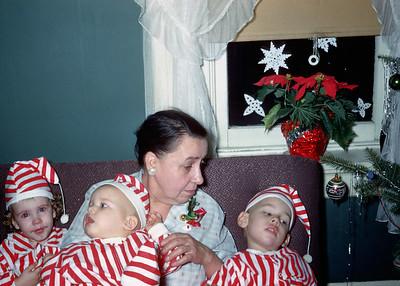 1957 Kim, Sharon Wentzel, Grandma Wentzel, & Allen Wentzel