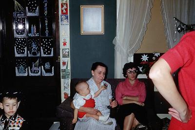 1957 Kim, Allen, Grandma Wentzel, Aunt Elaine