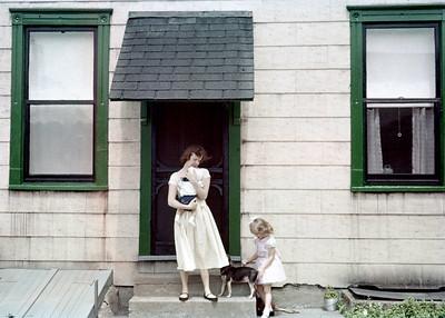 1957 Kim, Mom, Topsie, & ?