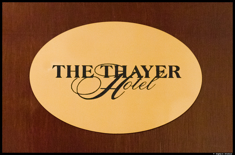The Thayer was the fancy hotel on the academy grounds, just inside the Highland Falls gate.