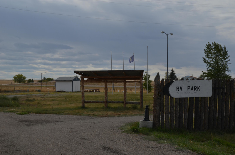 This is the infamous Belknap, Montana RV park where Sarah and I were attacked by hordes of mosquitoes during our trip.  Sarah - remember the little house.  They now have a fence and call it a RV park, different from the field we camped in.  No irrigation ditches anymore all circular sprinklers so maybe less mosquitoes?