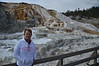 At Mammoth Hot Springs in Yellowstone.  It was a really beautiful place and the hike was fun.