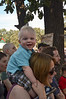 Gracin enjoying the juggler at Ren Fest