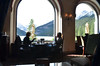 View from out table in the Fairmont Lake Louise.  The food was as good as the view.