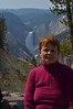 Great looking Mom in Yellowstone on Artist Point overlooking Yellowstone Canyon.