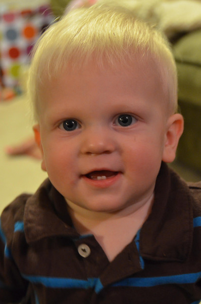My favorite pix.  He loved looking into the camera lens.